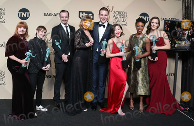 Abigail Savage Photo - 29 January 2017 - Los Angeles California - Abigail Savage James McMenamin Emily Althaus Alan Aisenberg Kimiko Glenn Samira Wiley and Julie Lake co-recipients of the Outstanding Performance by an Ensemble in a Comedy Series award for Orange Is the New Black 23rd Annual Screen Actors Guild Awards held at The Shrine Expo Hall Photo Credit F SadouAdMedia