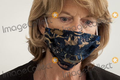 alaska Photo - United States Senator Lisa Murkowski (Republican of Alaska) wears a protective mask and talks with reporters as she arrives for the Republican Senate luncheon in the Hart Senate Office Building on Capitol Hill in Washington DC Thursday May 7 2020 Credit Rod Lamkey  CNPAdMedia