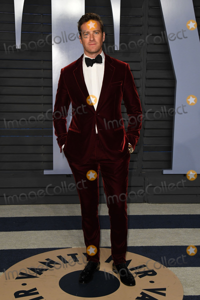 Armie Hammer Photo - 04 March 2018 - Los Angeles California - Armie Hammer 2018 Vanity Fair Oscar Party hosted following the 90th Academy Awards held at the Wallis Annenberg Center for the Performing Arts Photo Credit Birdie ThompsonAdMedia