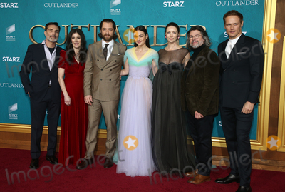 Caitriona Balfe Photo - 13 February 2020 - Hollywood California - Matthew B Roberts Maril Davis Richard Rankin Sophie Skelton Caitriona Balfe Ronald D Moore and Sam Heughan the Premiere Of Starzs Outlander Season 5 held at Hollywood Palladium Photo Credit FSAdMedia