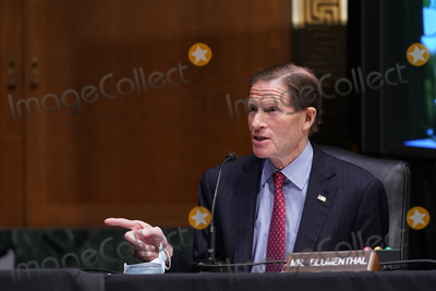 Barack Obama Photo - United States Senator Richard Blumenthal (Democrat of Connecticut) speaks during a Senate Veterans Affairs Committee confirmation hearing for Denis McDonough US secretary of Veterans Affairs (VA) nominee for US President Joe Biden in Washington DC US on Wednesday Jan 27 2021 As Barack Obamas chief of staff McDonough oversaw the VAs overhaul in response to its 2014 wait-time scandal and previously served as a deputy national security adviser Credit Sarah Silbiger  Pool via CNPAdMedia