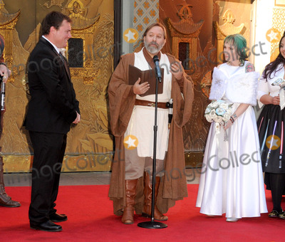 Caroline Ritter Photo - 17 December 2015 - Hollywood California - Caroline Ritter Shawn Crosby Andrew Porters Fans Get Married With Star Wars Themed Wedding held at the TCL Chinese Theatre IMAX Photo Credit Byron PurvisAdMedia