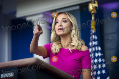 The White Photo - Kayleigh McEnany White House press secretary calls on a reporter during a news conference in the James S Brady Press Briefing Room at the White House in Washington DC US on Monday June 22 2020 Photographer Al DragoBloombergCredit Al Drago  Pool via CNPAdMedia