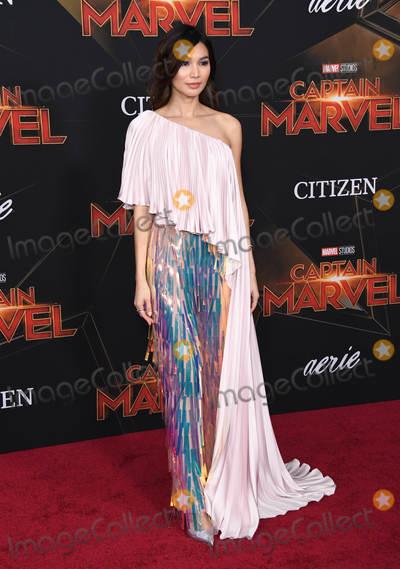 Gemma Chan Photo - 04 March 2019 - Hollywood California - Gemma Chan Captain Marvel Los Angeles Premiere held at El Capitan Theater Photo Credit Birdie ThompsonAdMedia