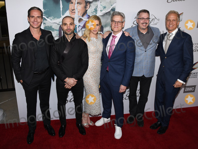 Peter Andr Photo - 05 February 2020 - Hollywood California - (L-R) Tony Dalton Michael Mando Rhea Seehorn Peter Gould Vince Gilligan and Patrick Fabian Premiere Of AMCs Better Call Saul Season 5 at ArcLight Cinemas Photo Credit Billy BennightAdMedia