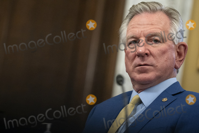 Alabama Photo - United States Senator Tommy Tuberville (Republican of Alabama) listens during a US Senate Agriculture Nutrition and Forestry Committee hearing at the Russell Senate Office Building on Capitol Hill in Washington DC US on Thursday March 25 2021 Credit Stefani Reynolds  CNPAdMedia