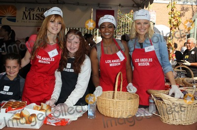 Anne Douglas Photo - 21 November 2012 - Los Angeles California - Bella Thorne Emma Kenney Tatyana Ali Malin Akerman Kirk And Anne Douglas Host 8th Annual Thanksgiving For Skid Row Homeless At Los Angele Mission Held At The Los Angeles Mission Photo Credit Kevan BrooksAdMedia