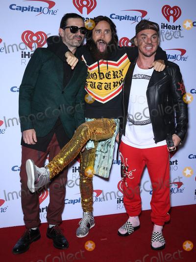 Jared Leto Photo - 22 September 2017 - Las Vegas NV -  30 Seconds to Mars Tomo Milicevic Jared Leto Shannon Leto 2017 iHeartRadio Music Festival at the T-Mobile Arena Photo Credit MJTAdMedia