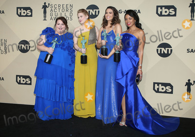Alexandra Breckenridge Photo - 21 January 2018 - Los Angeles California - Chrissy Metz Alexandra Breckenridge Mandy Moore Susan Kelechi Watson of This Is Us 24th Annual Screen Actors Guild Awards held at The Shrine Auditorium Photo Credit RetnaAdMedia