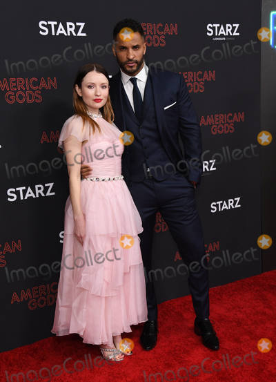 Ricky Whittle Photo - 05 March 2019 - Los Angeles California - Emily Browning Ricky Whittle American Gods Season 2 Los Angeles Premiere held at the Ace Hotel Photo Credit Birdie ThompsonAdMedia