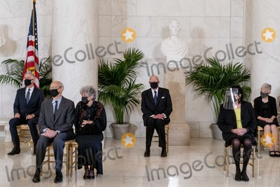 Antonin Scalia Photo - From left Justice Neil Gorsuch Justice Stephen Breyer and his wife Joanna Retired Justice Anthony Kennedy Justice Sonia Sotomayor and Maureen Scalia the wife of the late Justice Antonin Scalia attend a private ceremony for Justice Ruth Bader Ginsburg at the Supreme Court in Washington Wednesday Sept 23 2020 Ginsburg 87 died of cancer on Sept 18 Credit Andrew Harnik  Pool via CNPAdMedia