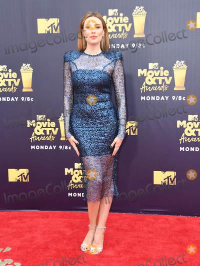 Arielle Vandenberg Photo - 16 June 2018 - Santa Monica California - Arielle Vandenberg 2018 MTV Movie and TV Awards held at  Barker Hangar Photo Credit Birdie ThompsonAdMedia