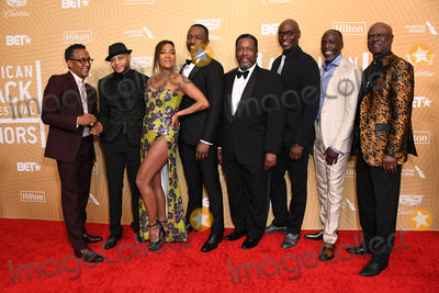 Lance Reddick Photo - 23 February 2020 - Beverly Hills California - Andre Royo JD Williams Sonja Sohn Jamie Hector Wendell Pierce Lance Reddick Michael Kenneth Williams Glynn Turman American Black Film Festival Honors Awards Ceremony held at the Beverly Hilton Hotel Photo Credit Birdie ThompsonAdMedia
