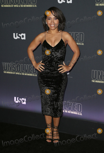 Amirah Vann Photo - 22 February 2018 - Hollywood California - Amirah Vann USA Networks Unsolved The Murders of Tupac  The Notorious BIG held at Avalon Hollywood Photo Credit F SadouAdMedia