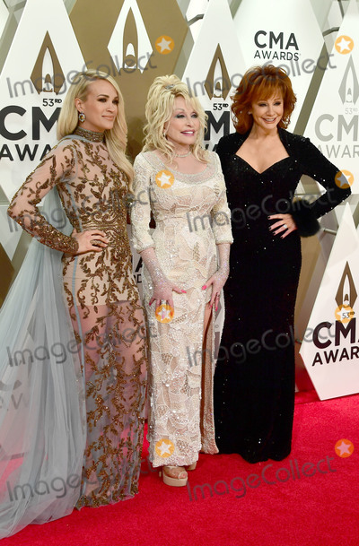 Dolly Parton Photo - 13 November 2019 - Nashville Tennessee - Carrie Underwood Dolly Parton Reba McEntire 53rd Annual CMA Awards Country Musics Biggest Night held at Music City Center Photo Credit Laura FarrAdMedia