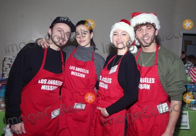 Amelia Gray Photo - 23 December 2019 - Los Angeles California - Mercer Wiederhorn Amelia Gray Hamlin Eyal Booker Delilah Belle Hamlin Christmas Celebration On Skid Row  held at Los Angeles Mission Photo Credit FSAdMedia