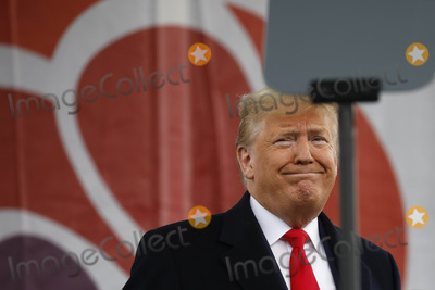 The National Photo - United States President Donald J Trump smiles at the 47th annual March for Life on the National Mall in Washington DC on January 24 2020Credit Yuri Gripas  Pool via CNPAdMedia