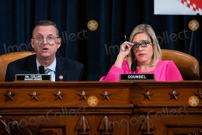 Hurts Photo - United States Representative Doug Collins (Republican of Georgia) Ranking Member US House Judiciary Committee left speaks during a US House Judiciary Committee hearing considering articles of impeachment against US President Donald J Trump on Capitol Hill in Washington DC on December 9 2019  He is joined by Ashley Hurt Callen Republican staff counsel rightCredit Erin Schaff  Pool via CNPAdMedia