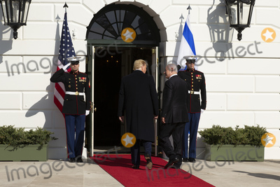Benjamin Netanyahu Photo - United States President Donald J Trump and Benjamin Netanyahu Prime Minister of the State of Israel enter the White House in Washington DC US on Monday January 27 2020Credit Stefani Reynolds  CNPAdMedia