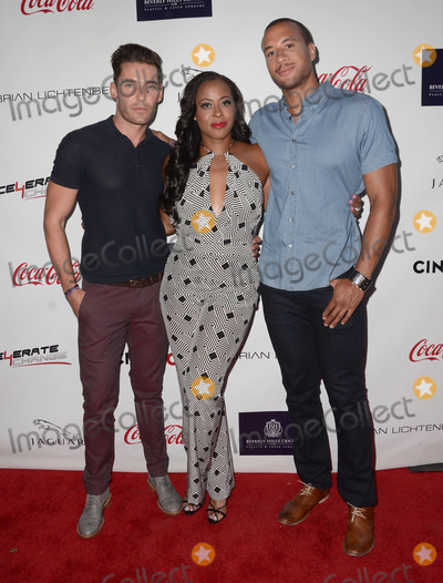 Aaron Hines Photo - 29 August 2015 - Beverly Hills California - Nick Hounslow Nichelle Hines Aaron Hines Arrivals for the Children Uniting Nations and National Coalition Against Domestic Violence Benefit held at a Private Residence Photo Credit Birdie ThompsonAdMedia