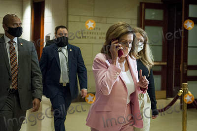 Nancy Pelosi Photo - Speaker of the United States House of Representatives Nancy Pelosi (Democrat of California) makes her way to a classified briefing on election security for members of Congress at the US Capitol in Washington DC Friday July 31 2020 Credit Rod Lamkey  CNPAdMedia