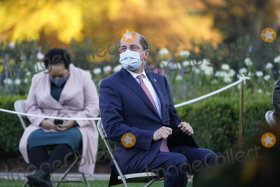 Alex Azar Photo - United States Secretary of Health and Human Services (HHS) Alex Azar awaits the arrival of US President Donald J Trump who will deliver an update on Operation Warp Speed during a press conference in the Rose Garden of the White House in Washington DC on Friday November 13 2020  OWS is a public private partnership initiated by the Trump administration to facilitate and accelerate the development manufacturing and distribution of COVID-19 vaccines therapeutics and diagnostics Credit Chris Kleponis  Pool via CNPAdMedia