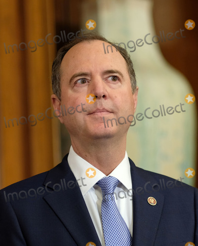 Adam Schiff Photo - United States Representative Adam Schiff (Democrat of California) listens during a news conference laying out articles of impeachment for President Donald J Trump on Capitol Hill in Washington DC on Tuesday December 10 2019 Credit Alex Wroblewski  CNPAdMedia