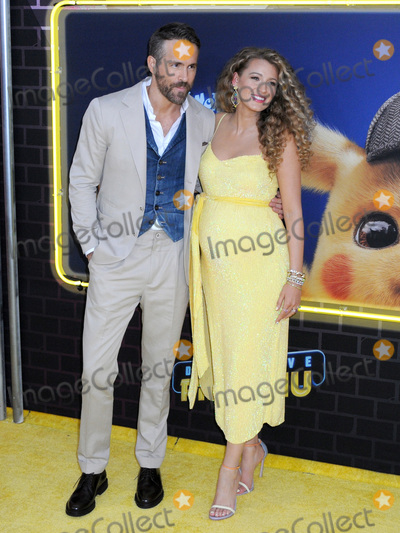 Blake Lively Photo - 02 May 2019 - New York New York - Ryan Reynolds and Blake Lively at the US Premiere of Pokmon Detective Pikachu on the Military Island in Times Square Photo Credit LJ FotosAdMedia