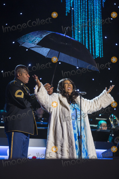 Aretha Franklin Photo - 16 August 2018 - 1942  Aretha Franklin the Queen of Soul Dies at 76 File Photo Singer Aretha Franklin performs during the 91st National Christmas Tree Lighting Ceremony on the Ellipse south of the White House in Washington DC USA 06 December 2013 The lighting of the tree is an annual tradition attended by the US President and the First Family President Calvin Coolidge lit the first National Christmas tree a 48-foot Balsam fir in 1923 Photo Credit Jim LoScalzoCNPAdMedia