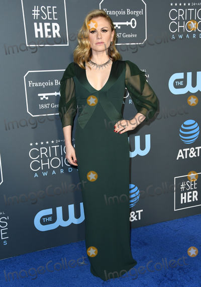Anna Paquin Photo - 13 January 2019 - Santa Monica California - Anna Paquin The 24th Annual Critics Choice Awards held at Barker Hangar Photo Credit Birdie ThompsonAdMedia