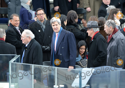 Chuck Grassley Photo - United States Senator John Kerry (Democrat of Massachusetts) arrives for President Barack Obama to sworn-in for a second term as the President of the United States by Supreme Court Chief Justice John Roberts during his public inauguration ceremony at the US Capitol Building in Washington DC on January 21 2013  From left to right US Senator Carl Levin (Democrat of Michigan) Sen Kerry US Senator Tom Harkin and United States Senator Chuck Grassley (Republican of Iowa)Credit Pat Benic  Pool via CNPAdMedia
