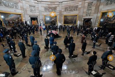 The Used Photo - Members of US Capitol Police pay their respects to the body of their colleague US Capitol Police officer William Evans in the Rotunda of the US Capitol in Washington DC on Tuesday April 13 2021 Credit Amr Alfiky  Pool via CNPAdMedia