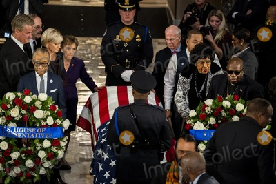 Al Sharpton Photo - Reverend Al Sharpton left pays his respects to United States Representative Elijah Cummings (Democrat of Maryland) who lies in state within Statuary Hall during a memorial ceremony on Capitol Hill in Washington DC on Thursday October 24 2019 Credit Melina Mara  Pool via CNPAdMedia