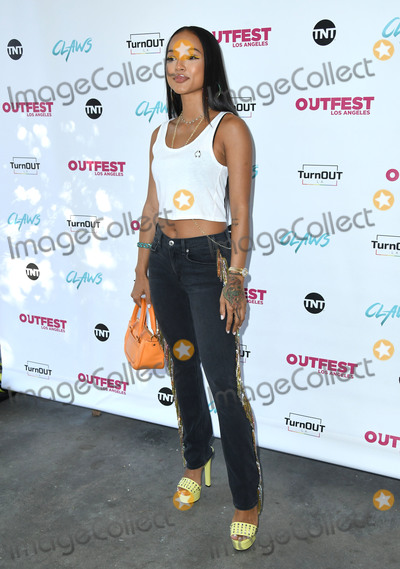 Karrueche Tran Photo - 23 June 2018 - Los Angeles California - Karrueche Tran TNTs Claws with TurnOUT LA and Outfest held at the Los Angeles Angeles LGBT Center Photo Credit Birdie ThompsonAdMedia