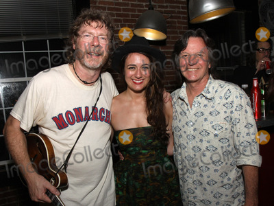 Nitty Gritty Dirt Band Photo - July 26 2011 - Nashville TN - (l-r) Award-winning Bluegrass artist Sam Bush newcomer Alyssa Bonagura and Jeff Hanna of the Nitty Gritty Dirt Band Artists musicians and songwriters came together at Mercy Lounge to help raise funds for Pete Huttlinger a widely respected guitarist and Nashville studio artist  Huttlinger has a congenital heart disease and is in need of a heart transplant Photo credit Dan HarrAdmedia