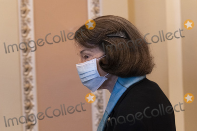 Senator Dianne Feinstein Photo - United States Senator Dianne Feinstein (Democrat of California) arrives for US Senate Proceedings during the Second Impeachment Trial of US President Trump on Capitol Hill in Washington DC February 12 2021 Credit Chris Kleponis - Pool via CNPAdMedia