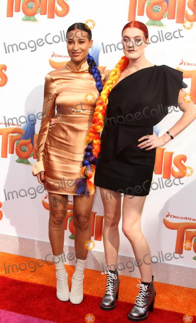 Caroline Hjelt Photo - 23 October 2016 - Los Angeles California - Aino Jawo and Caroline Hjelt of Icona Pop Trolls Los Angeles Premiere held at the Regency Village Theatre in Los Angeles Photo Credit AdMedia