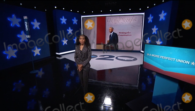 Kerri Washington Photo - In this image from the Democratic National Convention video feed former United States President Barack Obama finishes his remarks on the third night of the convention on Wednesday August 19 2020  At left is American actress Kerry WashingtonCredit Democratic National Convention via CNPAdMedia