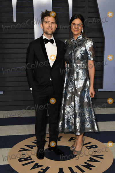 Adam Scott Photo - 04 March 2018 - Los Angeles California - Adam Scott Naomi Scott 2018 Vanity Fair Oscar Party following the 90th Academy Awards held at the Wallis Annenberg Center for the Performing Arts Photo Credit Birdie ThompsonAdMedia