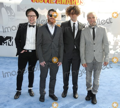 Andy Hurley Photo - 12 April 2015 - Los Angeles California - Patrick Stump Andy Hurley Joe Trohman Peter Wentz Fall Out Boy 2015 MTV Movie Awards - Arrivals held at Nokia Theatre LA Live Photo Credit Byron PurvisAdMedia