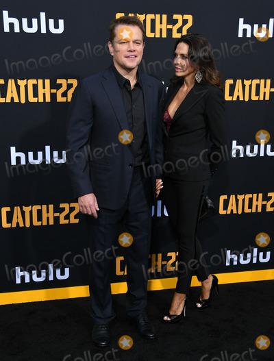 Luciana Barroso Photo - 07 May 2019 - Hollywood California - Matt Damon Luciana Barroso Hulus Catch 22 Los Angeles Premiere held at PTCL Chinese Theatre Photo Credit Birdie ThompsonAdMedia