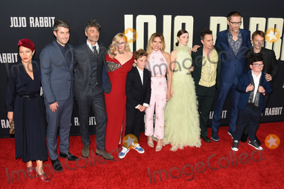 Archie Yates Photo - 15 October 2019 - Los Angeles California - Chelsea Winstanley Carthew Neal Taika Waititi Rebel Wilson Roman Griffin Davis Scarlett Johansson Thomasin McKenzie Sam Rockwell Stephen Merchant Archie Yates Alfie Allen  Fox Searchlight Jojo Rabbit Los Angeles Premiere held at American Legion Post 43 Photo Credit Billy BennightAdMedia