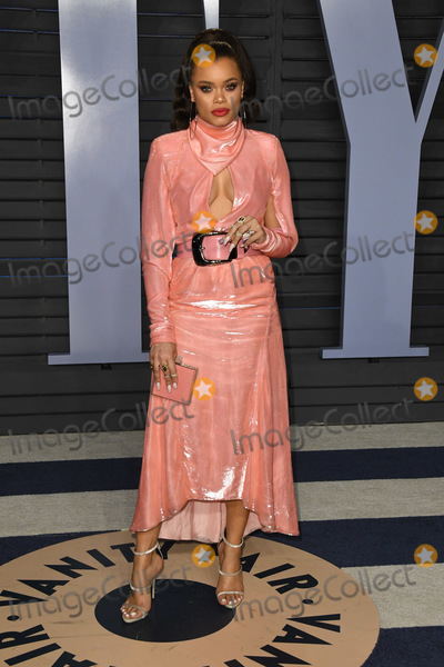Andra Day Photo - 04 March 2018 - Los Angeles California - Andra Day 2018 Vanity Fair Oscar Party following the 90th Academy Awards held at the Wallis Annenberg Center for the Performing Arts Photo Credit Birdie ThompsonAdMedia