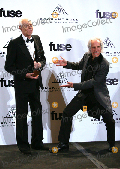 Paul Zimmerman Photo - 14 March 2011 - New York NY - Jac Holzman and John Densmore  The press room at the 26th annual Rock and Roll Hall of Fame Induction Ceremony at The Waldorf-Astoria on March 14 2011 in New York City Photo Paul ZimmermanAdMedia