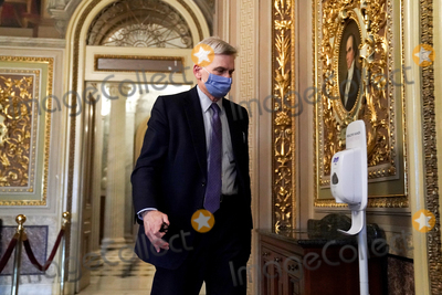 Bill Cassidy Photo - Sen Bill Cassidy (R-La) is seen in the Senate Reception Room during the fifth day of the impeachment trial of former President Donald Trump on Saturday February 13 2021Credit Greg Nash - Pool via CNPAdMedia