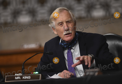 Angus King Photo - United States Senator Angus King Jr (Independent of Maine) questions witnesses during a US Senate Armed Services hearing on Capitol Hill in Washington DC on Thursday May 7 2020  The hearing is being held to examine the nominations of Kenneth J Braithwaite to be Secretary of the Navy James H Anderson to be a Deputy Under Secretary and General Charles Q Brown Jr to be Chief of Staff US Air Force Credit Kevin Dietsch  Pool via CNPAdMedia