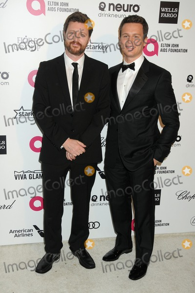 Andrew Haigh Photo - 22 February 2015 - West Hollywood California - Andrew Haigh Jonathan Groff 23rd Annual Elton John Oscar Viewing Party held at West Hollywood Park Photo Credit Byron PurvisAdMedia