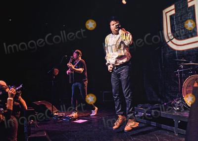 ASH Photo - 11 November 2017 - Hamilton Ontario Canada  Jason Human Kebab Parsons and Ashley Ash Buchholz of Canadian alternative electro-pop duo USS (Ubiquitous Synergy Seeker) perform on stage at The Studio at Hamilton Place  Photo Credit Brent PerniacAdMedia