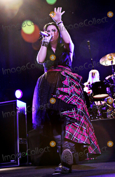 Amy Lee Photo - January 22 2012 - Atlanta GA - Hit rock band Evanescence made a stop on their tour at The Tabernacle in downtown Atlanta and performed for a packed house Photo credit Dan HarrAdMedia