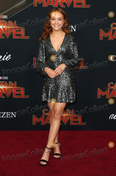 Sadie Stanley Photo - 04 March 2019 - Hollywood California - Sadie Stanley Captain Marvel Los Angeles Premiere held at El Capitan Theater Photo Credit Faye SadouAdMedia